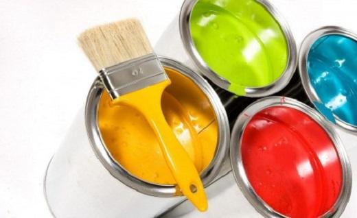 На фото разноцветная фасадная краска по штукатурке