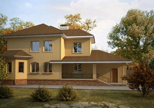 """Дом, облицованный сайдингом """"Альта Профиль"""""""