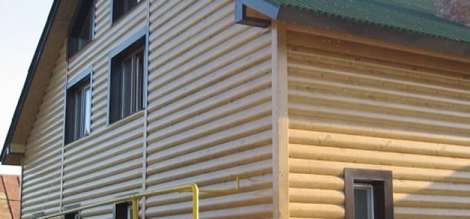 Обзор характеристик сайдинга  блок хаус под брус и бревно