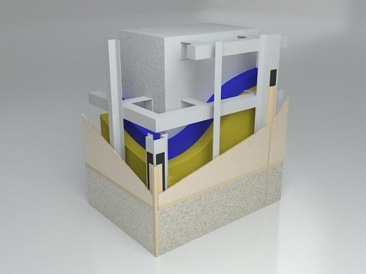 Схема навесного вентилируемого фасада из фиброцементных панелей
