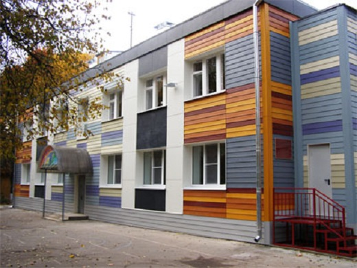 Декоративная облицовка фасада фиброцементыми плитами на фото