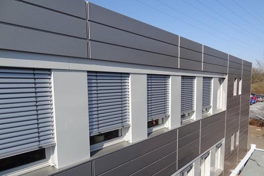 Алюминиевый фасад  из композитных панелей на изображении
