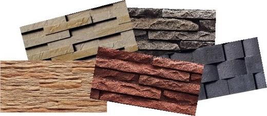 Фиброцементные фасадные панели разного вида на снимке