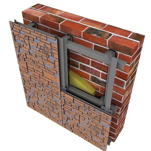 На схем показано, как правильно крепить фиброцемнтные панели на фасад
