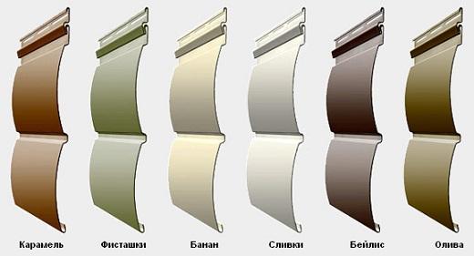 Пластиковый блок-хаус имеет различные цветовые решения
