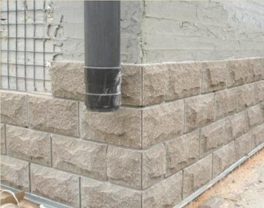 Бетонная плитка для фасада в виде колотого камня