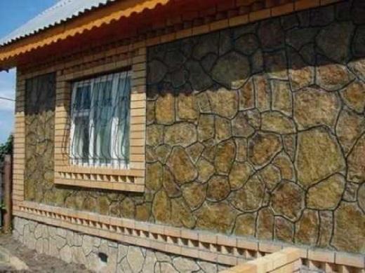 Фасад из натурального камня на фото