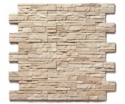 Искусственная плитка для фасада на снимке