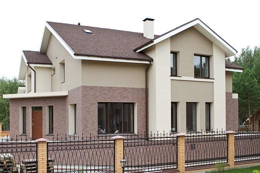 Японский вентилируемый фасад на коттедже