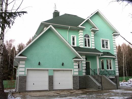Отделка дома по технологии мокрый фасад