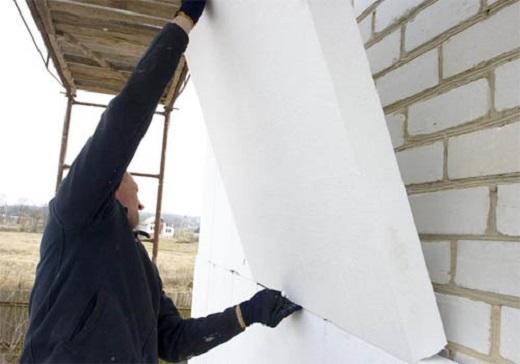 Утепление наружных стен пенопластом на фото
