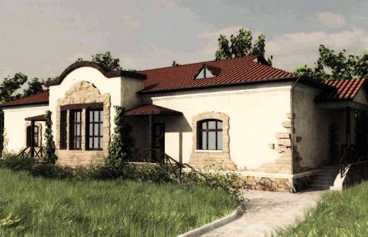 Дом, декорированный под старину