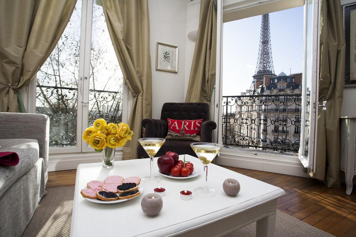 Paris Perfect Champagne Apartment Living Room