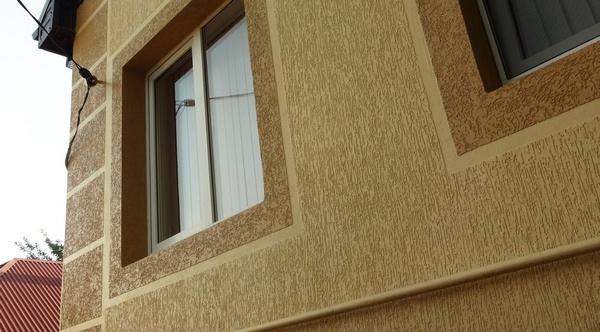 Штукатурка короед для фасада