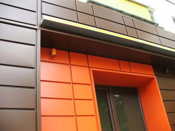 Вентилируемый фасад из металлокассет